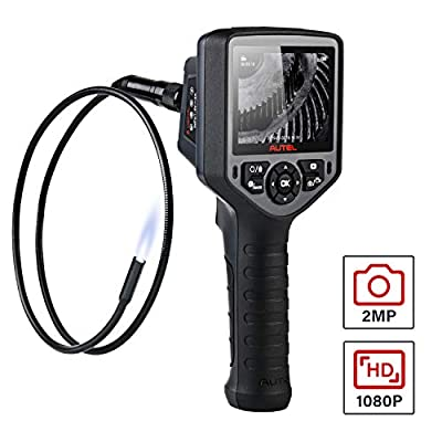 Autel MaxiVideo MV460 2MP 1080P Industrial Endoscope, Waterproof Inspection Camera with Full Color Screen, 1-Button Photo/Video, 10 Level Adjustable LEDs, 360°Rotation, 7 X Zoom