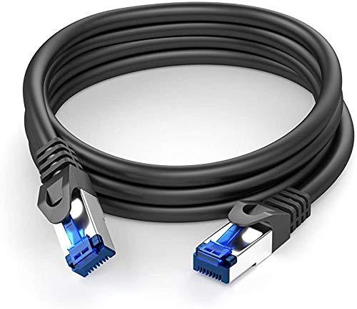 KabelDirekt – 5m – Netzwerkkabel, Ethernet, LAN & Patch Kabel (überträgt maximale Glasfaser Geschwindigkeit & ist geeignet für Gigabit Netzwerke, Switches, Router, Modems mit RJ45 Eingang, Silber)