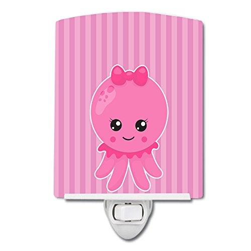 Caroline's Treasures BB8905CNL - Lámpara de noche de cerámica, diseño náutico, color rosa