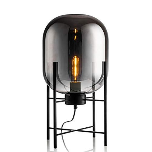 Koper Persoonlijkheid Creative Glass vier poten staande lamp Simple Creative Decoration (Color : Smoke Gray)