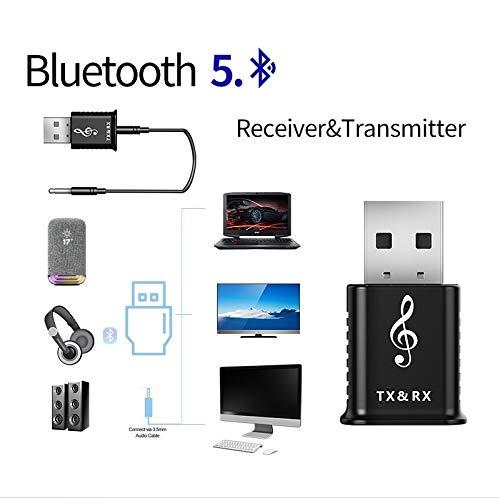 HDMI Kabel MSD168 2 in 1 Bluetooth Sender Empfänger Mini3.5mm AUX Stereo Bluetooth 5.0 Adapter for Auto-TV PC MP3, Einfach und praktisch