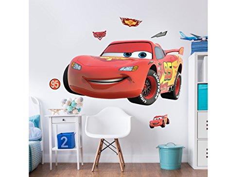 Walltastic, Adhesivos de Gran tamaño para tu habitación, Disney Cars, Multicolor, Grande