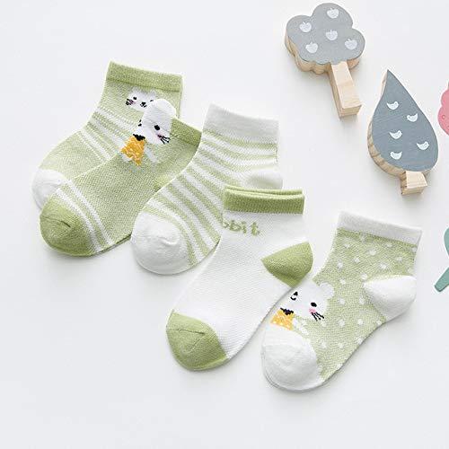 5 par/Lote 0-2Y Calcetines para bebés Calcetines de bebé para niñas de Malla de algodón Lindos Calcetines para niños recién Nacidos Accesorios de Ropa para bebés-a19-S(12-24M)