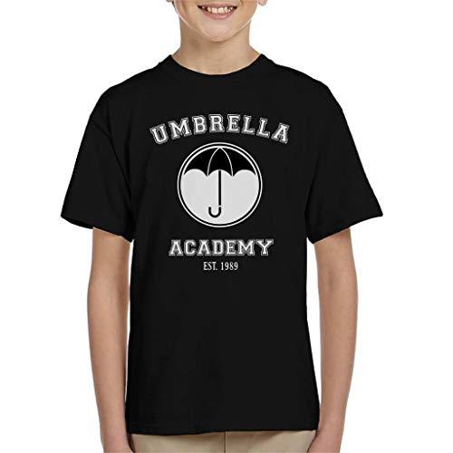 Cloud City 7 Umbrella Academy Varsity Logo Kid's T-Shirt