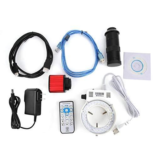 Jeanoko Microscope Camera Adjustable Ring lamp 100X Lens HDMI Microscope Camera for Industrial Microscope(U.S. regulations)
