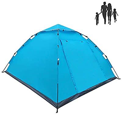 LETHMIK Camping Tent, Automatic Portable Pop-Up Tent, 2-4person, 30 Seconds Easy Set up, Waterproof Lightweight Tent for Camping Outdoor Hiking with Travel Climbing with Carry Bag