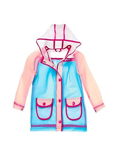 Pocopiano Mädchen Regenjacke Regenmantel Wetter Jacke transparent, Farbe: Modell A, Größe: 74/80