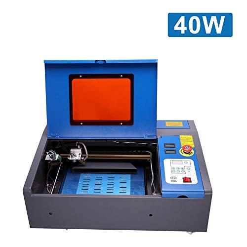 Valens 40W CO2 Máquina de Grabado Láser 300 x 200 mm Grabador de Láser con Puerto USB Laser Engraving Machine para Vidrio, Madera, Plástico, Cuero, etc.