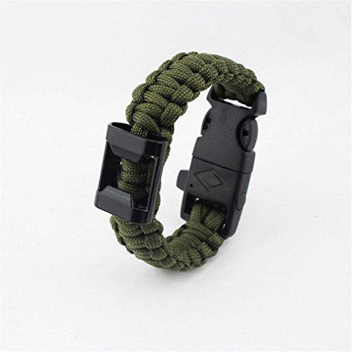 GAOHAILONG GAOHL Kit d'Urgence Bracelet, Corde de Parachute, Fire Starter, Outils, engins, sifflet, Boucle à Verrouillage de Coupe, 3