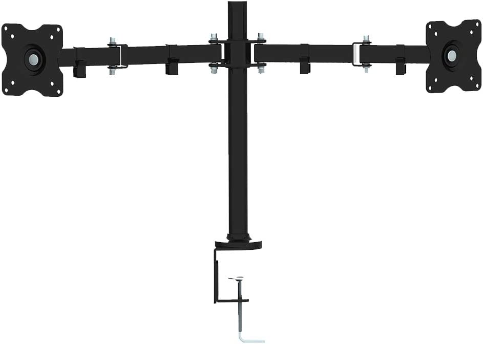 Koramzi Desk Dual Mount Stand for LCD/LED Monitor and TV Heavy Duty Fully Adjustable Arms and Height, Fits 10