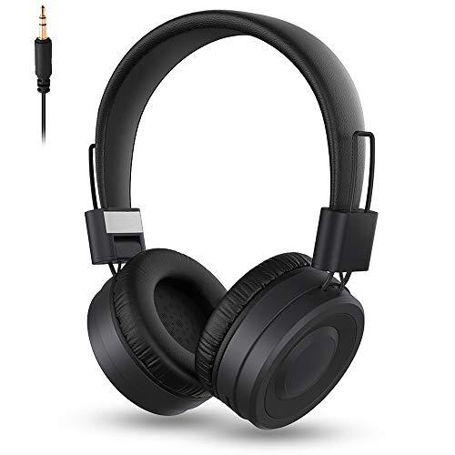 MISSJJ Auriculares Inalámbricos Bluetooth Diadema, Cascos Inalámbricos con Micrófono Incorporado, Graves Profundos Sonido Estéreo, Soporte Micro SD/TF, Auriculares Bluetooth para TV/Móviles/PC/Tablet