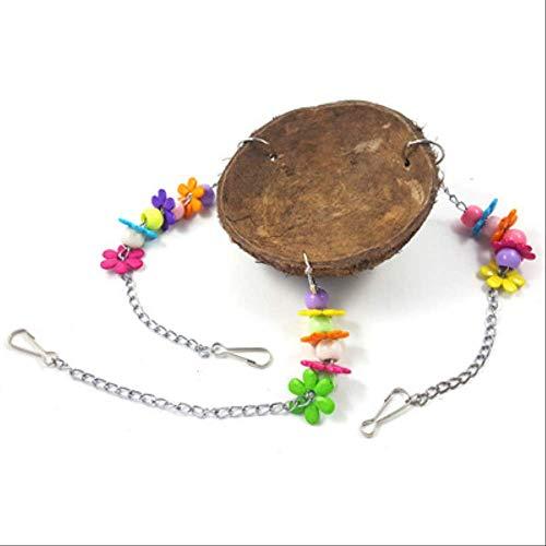 XYBB Giochi voor papegaai, dieren, vogels, natuur, kokosnoot, acryl, vogelvoerschuim, parel-design, voor de voeding, kooi, 10cm, Als afbeelding