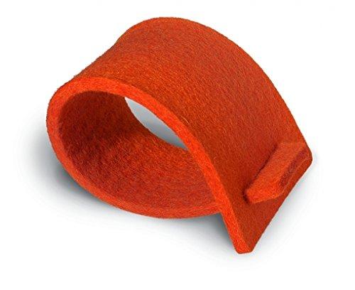 Paper+Design Serviettenringe, aus Filz, orange 4037698137516