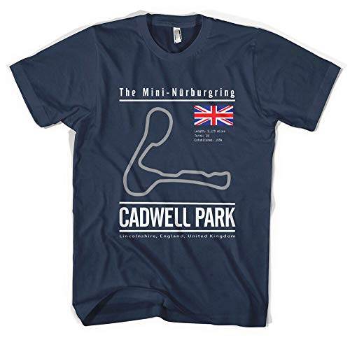 Cadwell Park Circuit T Shirt, Race, F1, Track, Time Attack, Nurburgring, JDM, M3 L Navy