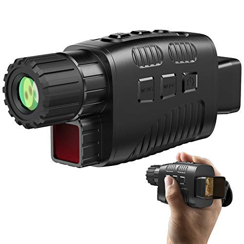 """JStoon Digital Night Vision Monocular for 100% Darkness, 1.5"""" TFT Inner Screen Travel Infrared Monoculars Save Photos & Videos for Outdoor/Surveillance/Security/Hunting/Hiking - 32GB Card Included"""