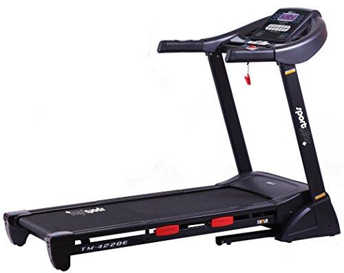 SportPlus Cinta de Correr - Cinta Andadora con Altavoz Integrado, Ajuste de Inclinación Automático hasta un 16%, máx. Velocidad 20 km/h y Peso de Usuario 110 kg