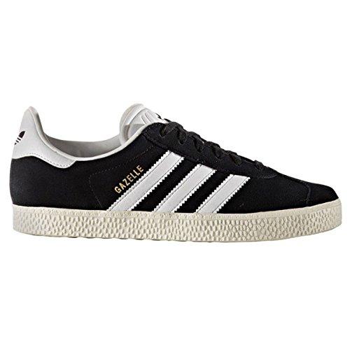 Adidas Gazelle, Sneaker Unisex-Child, Core Black/Footwear White/Gold Metallic, 36 2/3 EU