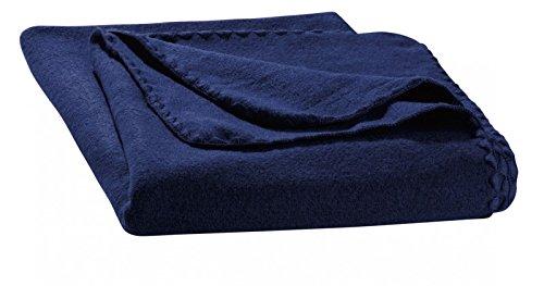 Disana - Walkdecke Wolle marine, Size / Größe:140x200 cm
