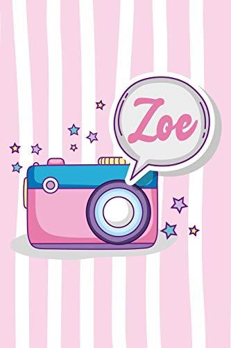 Zoe: Personalisiertes Notizbuch mit Vorname Zoe mit Punkteraster für Notizen und als Planer für Planungen
