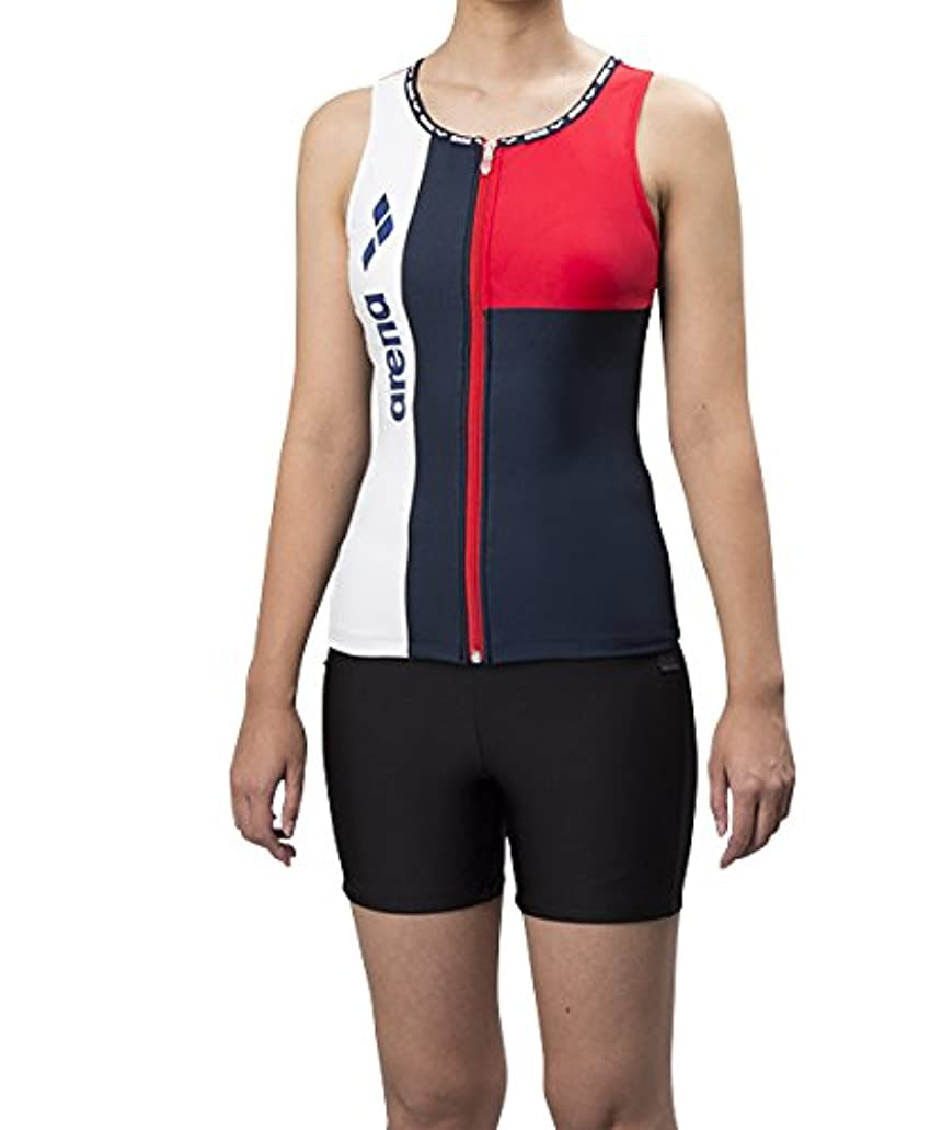 生命体無しカンガルートレーニング 競泳用 水着 レディース HASSUI セパレーツ 大きめカラースナップ付き ぴったりパッド フィットネススイム FLA-8835W