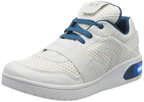 Geox J XLED Boy B Sneaker, Weiß (White/Petrol C1zj4), 39 EU