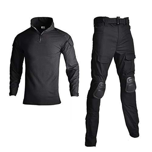 Shirt Uniforme Militaire et Pantalon avec Genou Coudières extérieur Costume Tactique Chasse Vêtements de Camouflage ACU XL
