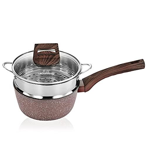 Potador de vapor/olla pequeña/olla de sopa Maifan Piedra de maifan Potra de gachas antideslizantes Cocina de inducción de la estufa de la cocina 18 cm