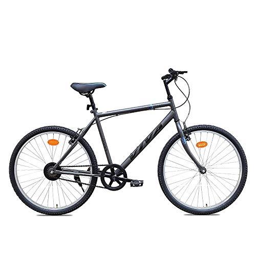 Viva Zero Emmisssion 26T Single Speed Mountain Bike (Grey, Ideal For :...