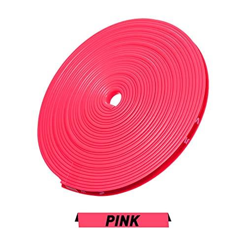 MEILIJIE XIAOXU MIN 8m / Roll Rimblades Color Vehicle Color Rueda Llantas Ajuste para BMW E46 E39 E38 E90 E60 E36 F30 F30 E34 F10 F20 E92 E38 E91 E53 E70 X5 X3 X6 (Color : Pink)