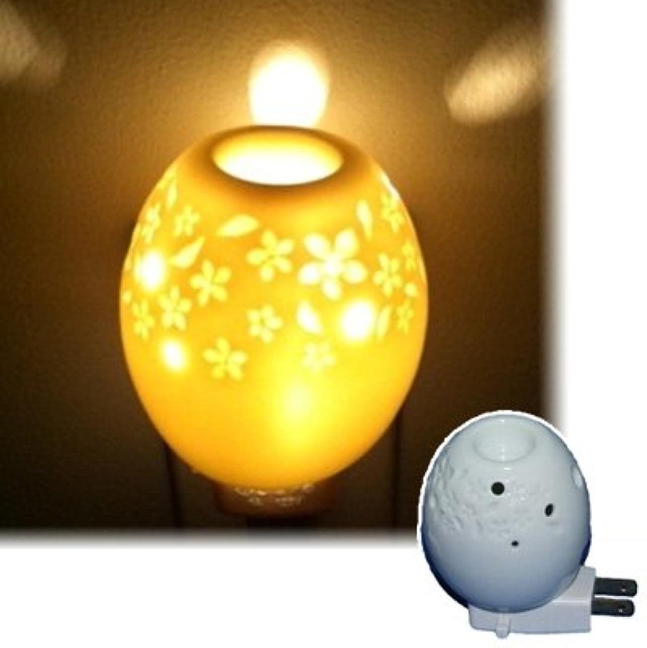 ダブル胴体ソーシャルアロマオールナイト オーバル 生活の木 アロマランプ(電気式芳香器)
