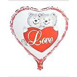 HAAC - Corazón hinchable (45 cm), diseño de osos, color rojo