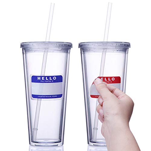 Cupture Classic Insulated Double Wall Tumbler Cup with Lid, Reusable...