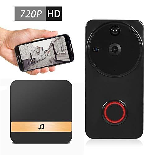 LNLJ 720P Draadloze Video Deurbel met Deur Chime Real-Time 2-weg gesprek, Nachtzicht, PIR Bewegingsdetectie & App Afstandsbediening