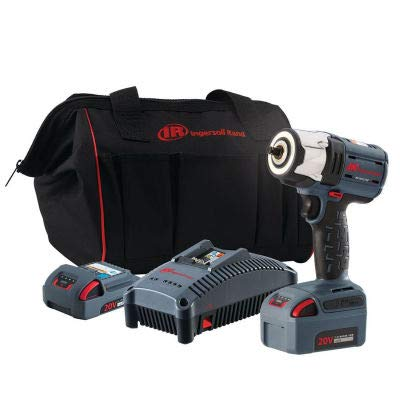 "Ingersoll Rand W5132-K22 IQV20 Series 3/8"" 20V Cordless Impact Wrench Kit 2 Batteries 5.0Ah"