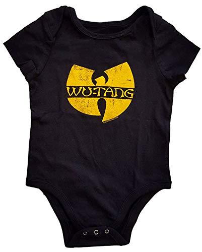 Rock Off Wu-Tang Baby-Strampler mit Clan-Logo Gr. 56, Schwarz