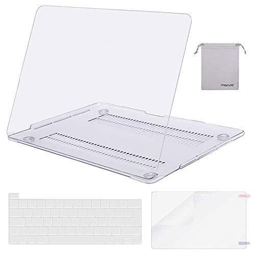 MOSISO Funda Dura Compatible con MacBook Pro 16 Pulgadas 2020 2019 con Touch Bar A2141, Delgado Plástico Carcasa Rígido&Cubierta de Teclado&Protector de Pantalla&Bolsa de Accesorios,Cristal