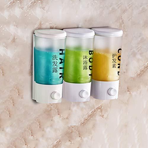 chenyu Lot de 3 distributeurs de savon à pompe murale de 400 ml - Facile à installer - Pour cuisine, salle de bain, bureau, hôpital