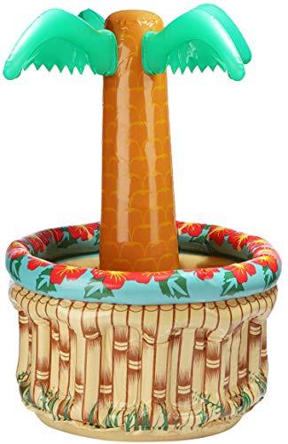 com-four® Aufblasbare Palme zum Kühlen - Getränke-Kühler für Grill oder Beach-Party, Picknick, Geburtstag - Wiederverwendbarer Partyartikel (01 Stück - Palme)