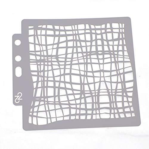 Kunststoff-Schablonen, Netz-Design, Schablonen für Tagebuch, Notizbuch, Heimdekoration, Basteln, Alben, Scrapbooking und Druck auf Papier