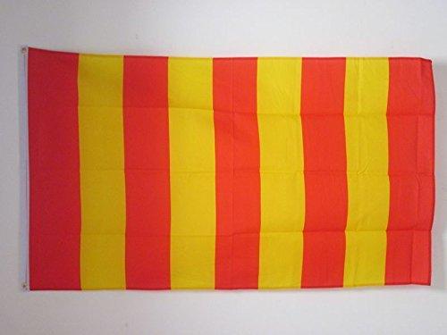 AZ FLAG Flagge ROTE UND GELBE Streifen 150x90cm - ROTES Fahne 90 x 150 cm - flaggen Top Qualität