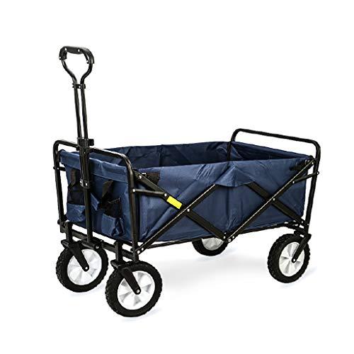 Tuinwagen Opvouwbare Draagbare Oversized Handwinkelwagen Handvat Bar Te Koop Voedsel Huisdier Kinderwagen Lading 80kg