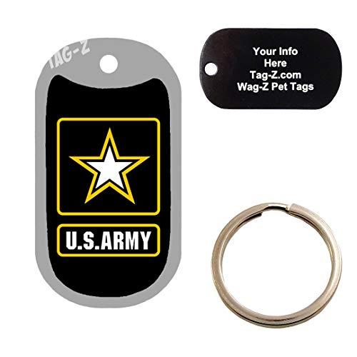 ARMY LOGO - CUSTOMIZED - PET TAG - MILITARY Shape - Tag-Z Dog Tags