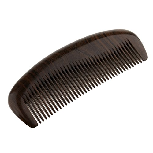 MagiDeal Peigne en Bois Naturel ?Dents Fines Anti-statique ?Démêlage de Cheveux Brosse de Massage ?cuir Chevelu - E