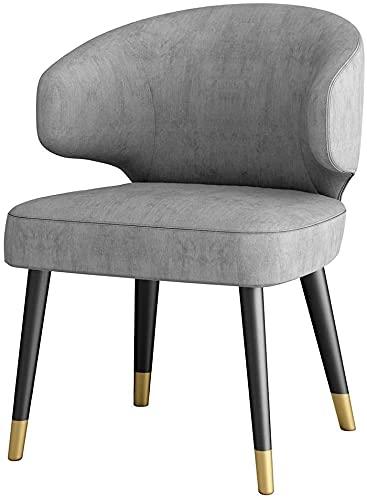 JFIA65A Silla de comedor moderna de tela de terciopelo tapizada con patas antideslizantes para terraza, para estudio, cafetería, sala de reuniones, sillas de esquina (color: C)