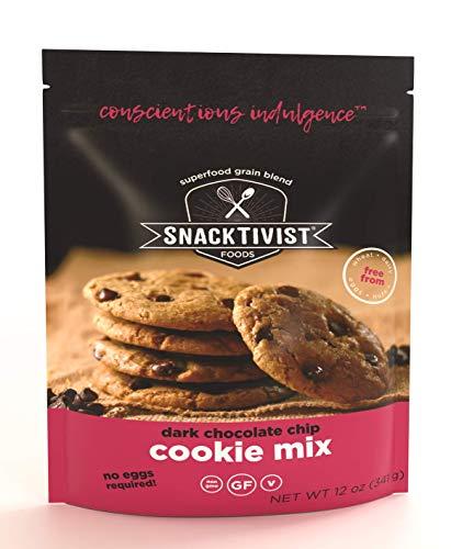 Snacktivist Foods - Gluten-Free Chocolate Chip Cookie Baking Mix - Vegan, Egg-Free, Dairy-Free, Non-GMO 12 OZ