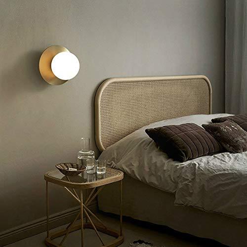 ZTH G9 LED Lámpara de Pared de Cobre Completo Personalidad Redonda Sala de Estar Dormitorio Corredor Lámpara de Pared (sin Fuente de luz) (Color : Without Light Source)