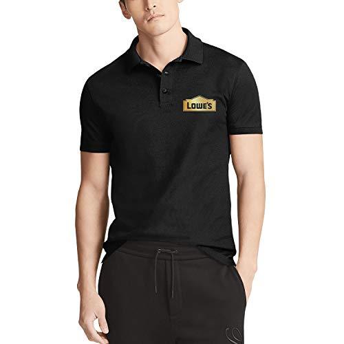 NINETYRW Crazy Mens Polo T Shirt Lowe's-Golden-Gradient-Hollow-Logo- Tshirts for Men Graphic Cotton T-Shirt