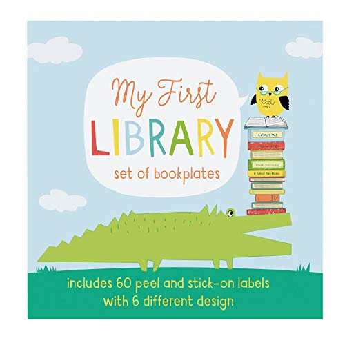 C.R. Gibson ''My First Library'' Children's Name Stickers for Books, 5'' x 5''