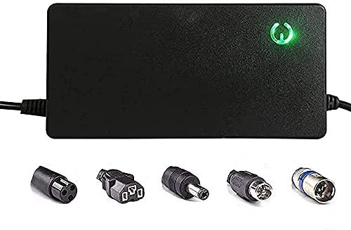 SKYWPOJU Cargador de batería de 60 V 2 A para Bicicleta eléctrica, batería de Litio para Scooter eléctrico, Cargador de batería para Scooter de 100-240 V (Color : 67.2V 2A, Size : E)