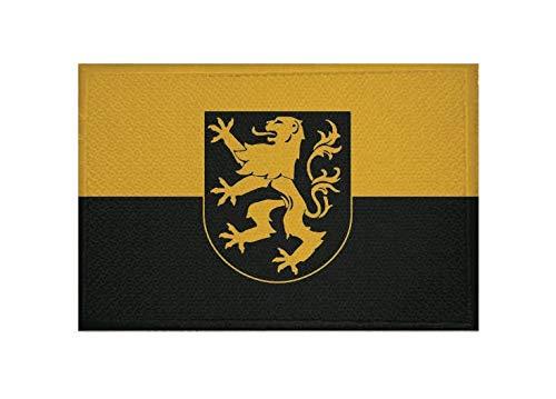 U24 Aufnäher Auerbach (Vogtland) Fahne Flagge Aufbügler Patch 9 x 6 cm